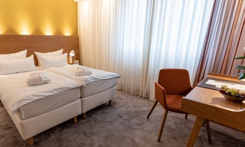 Sleeping area in superior room | Hotel Adler Asperg near Ludwigsburg