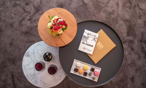 Tables with drinks and sweets | Hotel Adler Asperg near Ludwigsburg